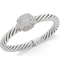 diamond pave bangle bracelet (1/2 ct. t.w.) in sterling silver
