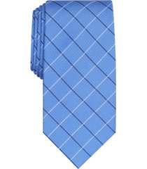 club room men's classic grid tie, created for macy's