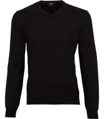 olymp trui v-hals zwart extra fijn merinowol
