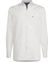 camisa blanca tommy hilfiger slim argyle print shirt