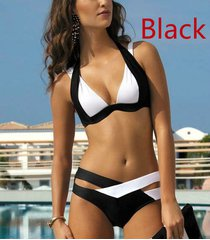 women bikinis set swimsuits bandage swimwear bathing suit patchwork biquini s-xl