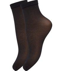 ladies den anklesock, pleasure socks 20, 2-pack lingerie socks regular socks svart vogue