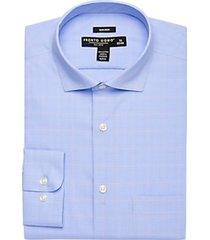 pronto uomo blue & pink plaid dress shirt