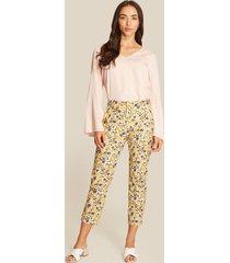 pantalón amarillo-multicolor patprimo