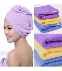 2 pack purple quick drying microfiber hair towel wrapped turban twist free ship