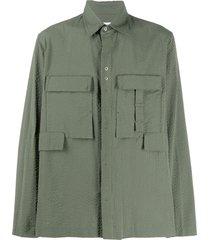 craig green cargo-pocket seersucker shirt