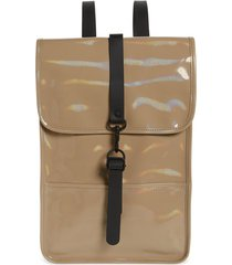 rains mini waterproof holographic backpack - beige