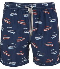 capri code navy blue swimsuit with boats