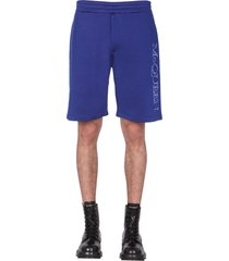 alexander mcqueen shorts with embroidered logo