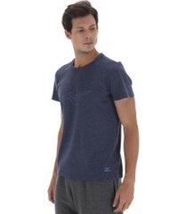 camiseta mizuno cottom - masculina - azul escuro