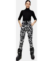*black and white logo ski trousers by topshop sno - monochrome