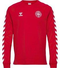 dbu fan 2020 cot. tee l/s t-shirts football shirts röd hummel