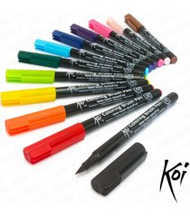 sakura koi - blendable japanese style manga brush pens - plastic wallet of 12