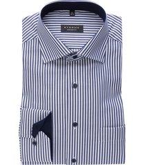 eterna marine gestreept hemd comfort fit non iron