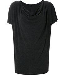 alcaçuz logaritimo draped top - black