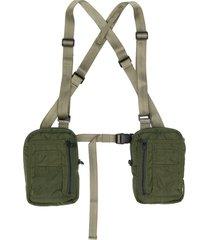 maharishi sternum strap utility belt - green
