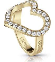 anillo guess shine on me /ubr28001-56- dorado