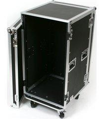 20u unit space amp amplifier rack mount with casters ata flight road tour case