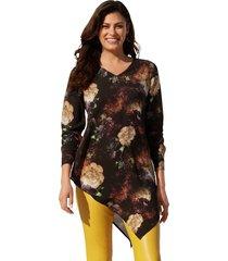 blouse amy vermont zwart::geel::rood