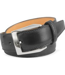 pakerson designer men's belts, men's black hand painted italian leather belt