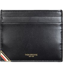 thom browne card holder with logo