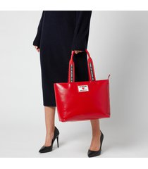love moschino women's heart logo tote bag - red