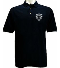 us army special forces de opresso liber green berets polo style black tshirt