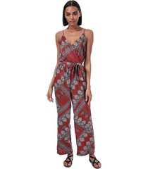 only diana scarf print jumpsuit size 8 in brown