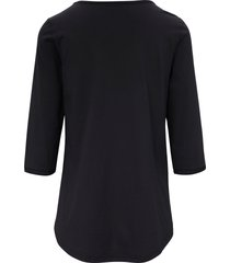 shirt 100% katoen 3/4-mouwen van green cotton zwart