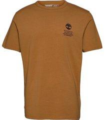 ss back boot tee t-shirts short-sleeved brun timberland
