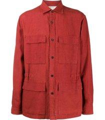 z zegna cargo pocket shirt - red
