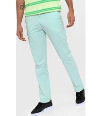 pantalón chino verde agua tommy hilfiger custom fit chino pant