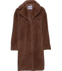 camille cocoon coat outerwear faux fur bruin stand studio