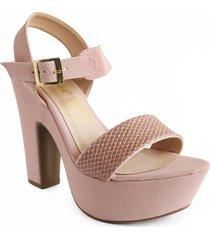 calzado dama tacon 7 1/2 rosa 182754rosado mujer