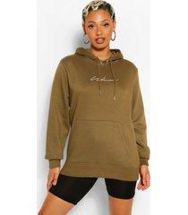 woman signature hoodie, kaki