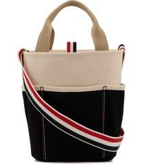 thom browne canvas large bucket bag