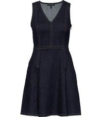 denim fit & flare dress korte jurk banana republic