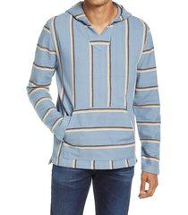 men's faherty biarritz beach hoodie, size xx-large - blue
