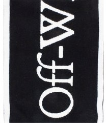 off-white black logo knit scarf