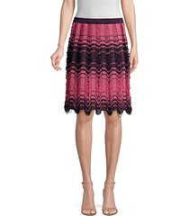 m missoni women's gonna maglia pleated knit skirt - pink - size 38 (2)