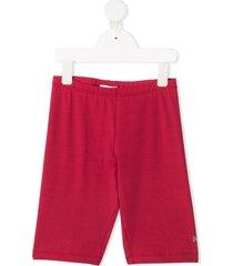 monnalisa studded logo knee-length shorts - pink