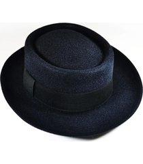 chapéu chapelaria vintage coco/pork pie preto