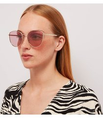 gucci women's monogram sunglasses - gold/pink