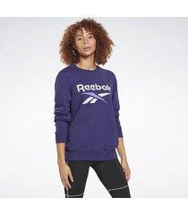 sweater reebok sport identity logo french terry crew sweatshirt