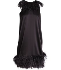 gianluca capannolo lee feathers acetate dress