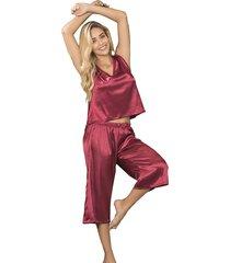 pijama capri vinotinto adriana 8644