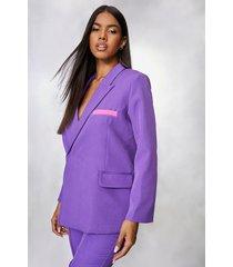 super oversized blazer, purple