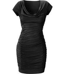 abito drappeggiato (nero) - bodyflirt