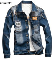 tsingyi-elastic-patch-designs-distressed-denim-jacket-men-casual-patchwork-turn-