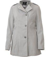 casaco queens paris botões cinza